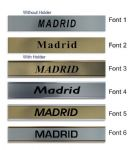 Madrid Clock Name Plate |World Time Zone City Wall clocks Sign custom Plaque